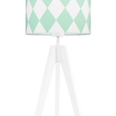 youngDECO lampa na stolik trójnóg romby miętowe