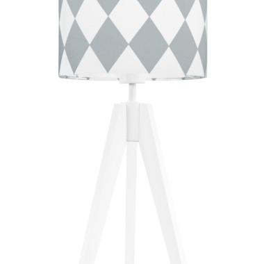 youngDECO lampa na stolik trójnóg romby szare