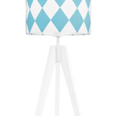 youngDECO lampa na stolik trójnóg romby turkusowe