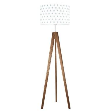 youngDECO lampa podłogowa trójnóg dębowy gwiazdki szare