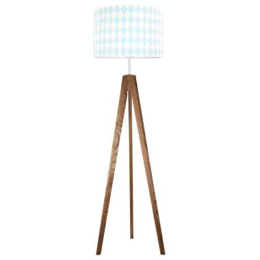 youngDECO lampa podłogowa trójnóg dębowy romby pastelowe