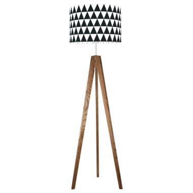 youngDECO lampa podłogowa trójnóg dębowy trókąty czarne