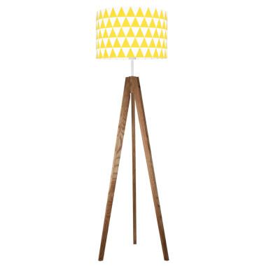 youngDECO lampa podłogowa trójnóg dębowy trókąty żółte