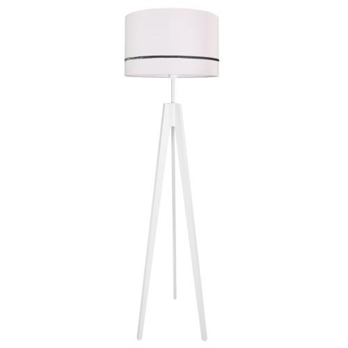 youngDECO lampa podłogowa trójnóg porcelanowy róż