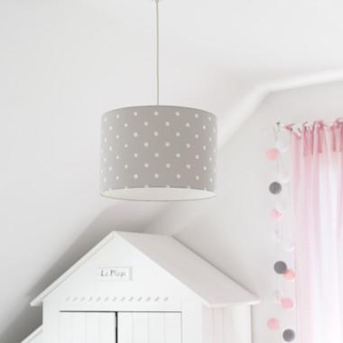 Lampa wisząca Lovely Dots Grey (2)-szara w kropki