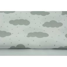 Zasłona Chmurki jasnoszare z deszczem na białym