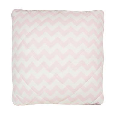 Poduszka chevron szary-chevron różowy