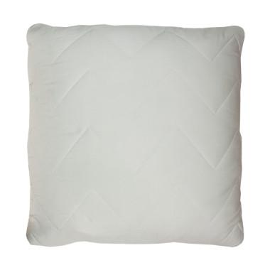Poduszka pikowana srebrzysty szary - miętowy (chevron)