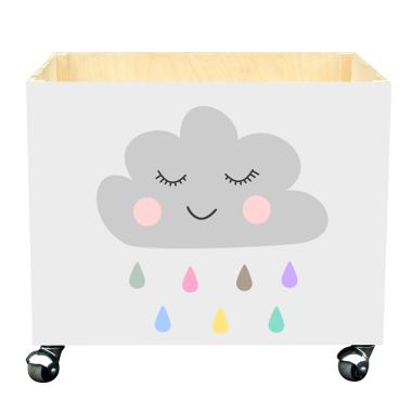 Skrzynka na zabawki do pokoju dziecka- chmurka