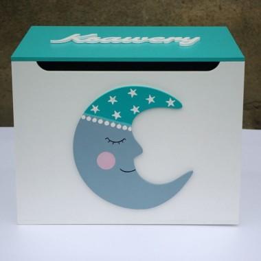 Skrzynka na zabawki do pokoju dziecka-Księżyc