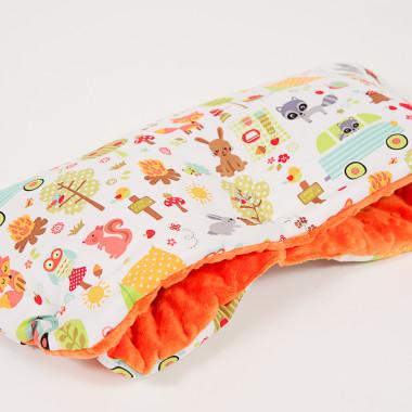 Wodoodporna mufka - camping pomarańczowy