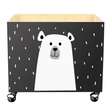 Skrzynka na zabawki do pokoju dziecka- Niedźwiadek