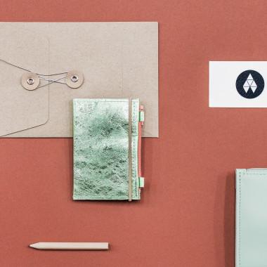 MIKRO PLUS / Glossy Green - portfel ze skóry