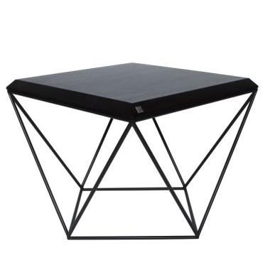 Stolik kawowy-nowoczesny, designerski ze stalową konstrukcją.Czarny.