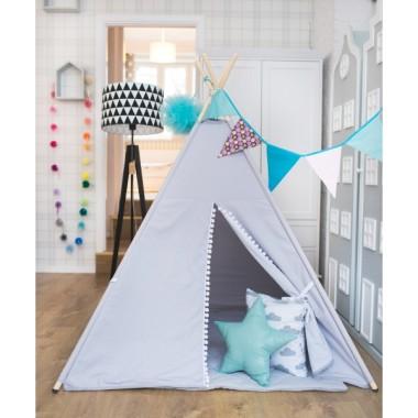 Namiot tipi-do pokoju dziecięcego, z drewnianym stelażem.Teepee.