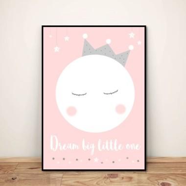 "Plakat dla dzieci ""Dream big little one"""