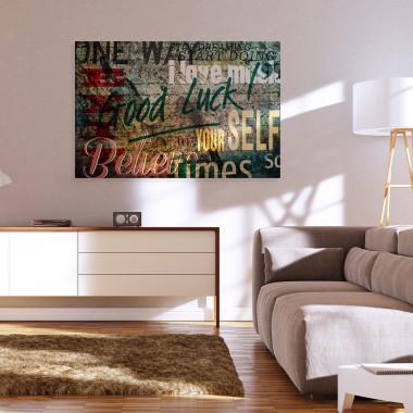 Tu i teraz - nowoczesny obraz do salonu