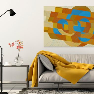 Krąg ognia - nowoczesny obraz na płótnie