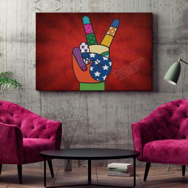 Make peace not war - nowoczesny obraz na płótnie