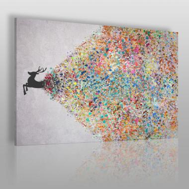 Gejzer ekspresji - nowoczesny obraz na płótnie