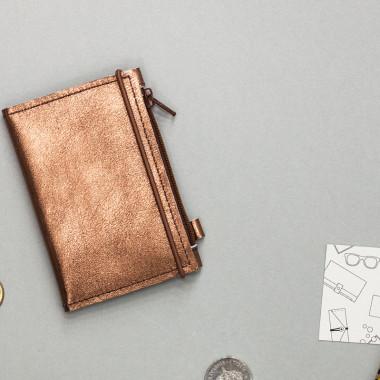 MIKRO - minimalistyczny portfel/wizytownik/etui na klucze