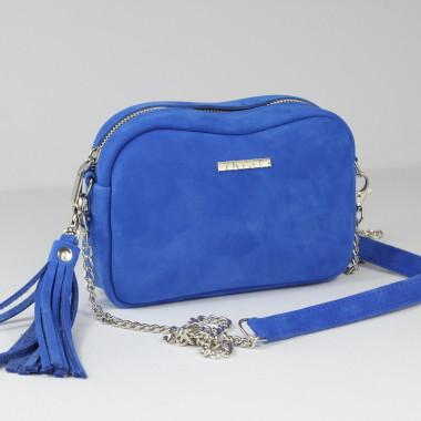 Fabioletka kobalt nubuk- mała torebka