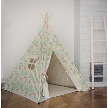 Namiot tipi dla dzieci bojowy łapacz moro