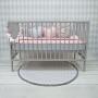Szara mata - dywanik z szarymi pomponami do pokoju dzieciecego
