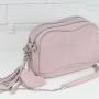 Torebka skórzana – Fabulous II różowy welur perłowy