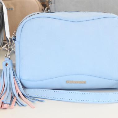 Torebka skórzana – Fabulous baby blue - 24cm