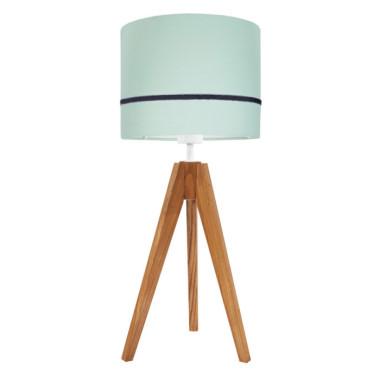 Lampa nocna na stolik Elegance porcelanowa mięta