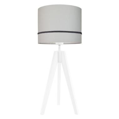 Lampa nocna na stolik Elegance jasny szary