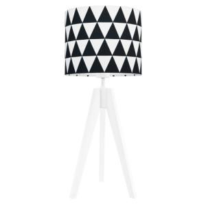 Lampka nocna na stolik Trójkąty czarne