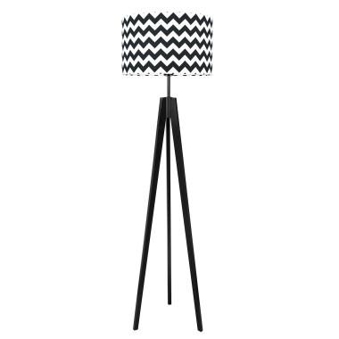 youngDECO lampa podłogowa trójnóg czarny chevron czarny