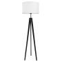 youngDECO lampa podłogowa trójnóg czarny porcelanowa biel