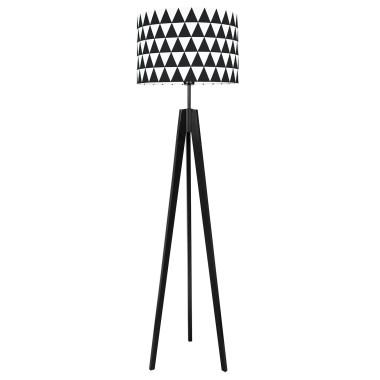 youngDECO lampa podłogowa trójnóg czarny trójkąty czarne