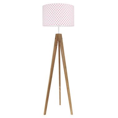 youngDECO lampa podłogowa trójnóg dębowy grochy amarantowe