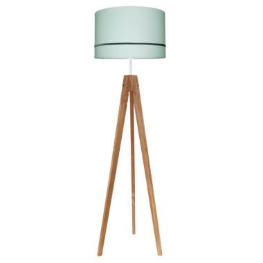Lampa podłogowa do salonu kolor miętowy