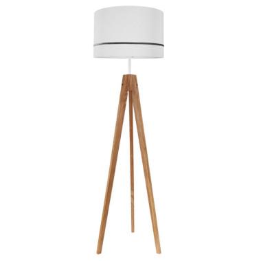 Lampa podłogowa sztalugowa do salonu kolor szary