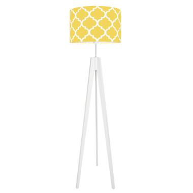 youngDECO lampa podłogowa trójnóg koniczyna marokańska żółta