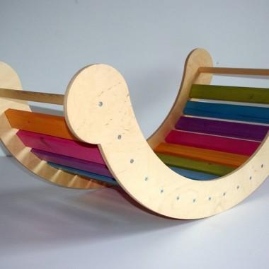 Najlepsza zabawa dla dzieci -bujak-mostek. Alternatywa dla konika na biegunach