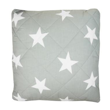 Poduszka pikowana gwiazdy na szarym-granatowa