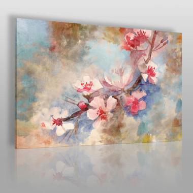 Obraz z gałązką magnolii – w domu wiosna przez cały rok.