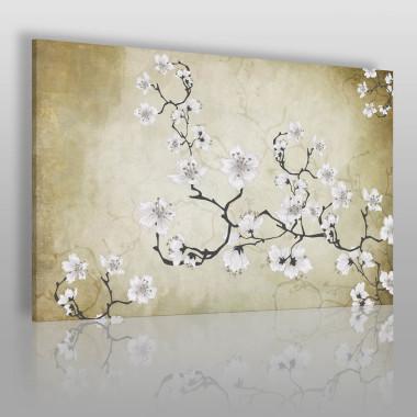 Obraz z gałązką wiśni – delikatny, wiosenny.