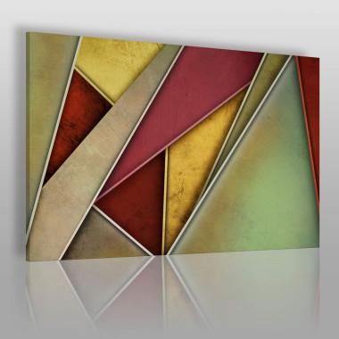 Przenikające się trójkąty – piękne, mocne kolory pasują do nowoczesnych wnętrz.