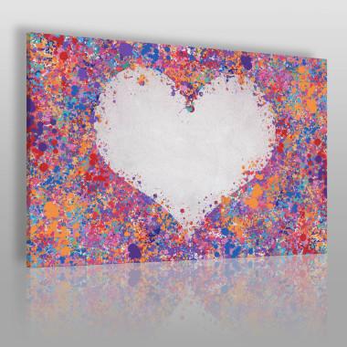 Serce i konfetti, radosna kompozycja. Piękne, czyste kolory pasują do nowoczesnych wnętrz.