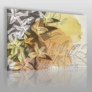 Piękna grafika – kompozycja roślinna. Pasuje do gabinetu, sypialni, salonu.