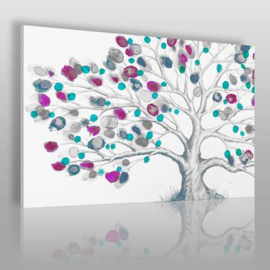 Kolorowa grafika. Motyw drzewa w pięknych, żywych kolorach.