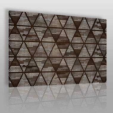 Mocna czarno-biała grafika – kompozycja geometryczna z trójkątami.