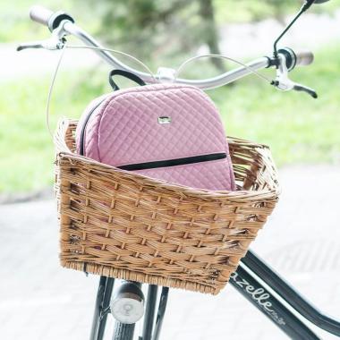 Różowy pikowany plecak damski idealny na rower czy wyceczkę poza miasto